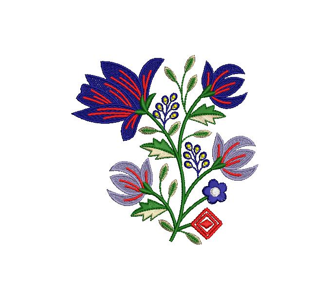 Creative lots unique shape  Flower Butta embroidery design