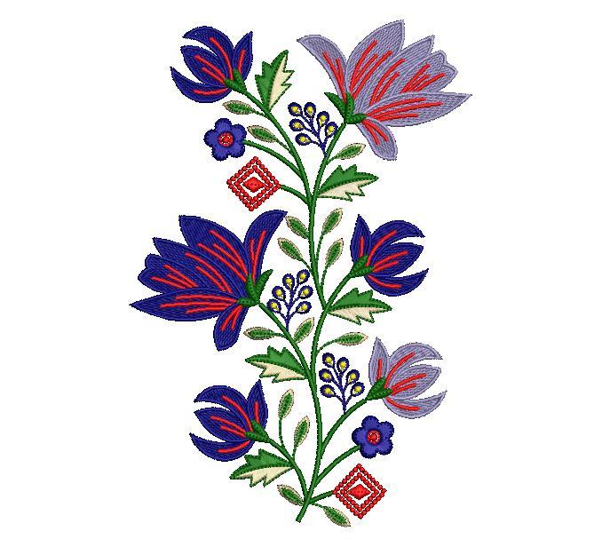 Creative lots full shape Flower Butta embroidery design