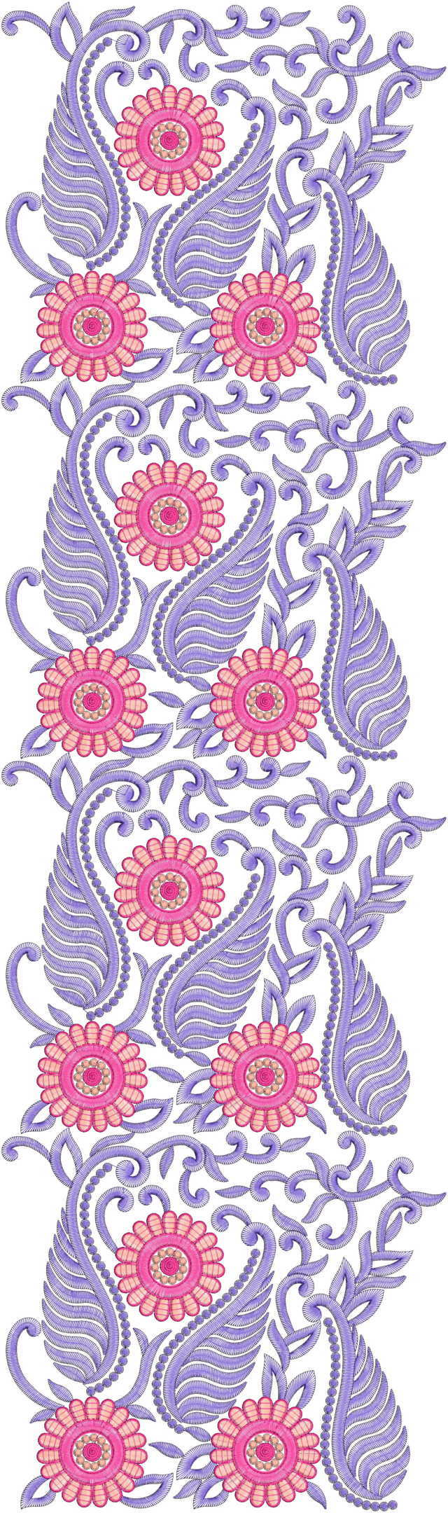 awesome mango concept all over garment embroidery designs