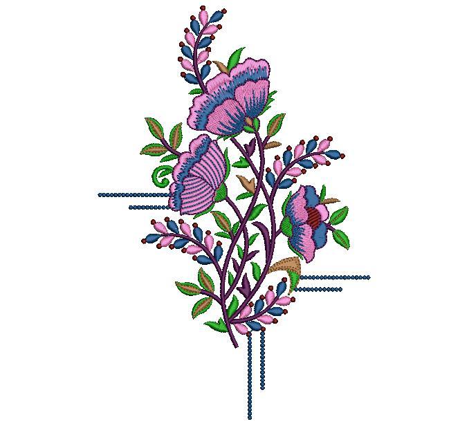creative  colour ful beautiful flowers home Decor embroidery design