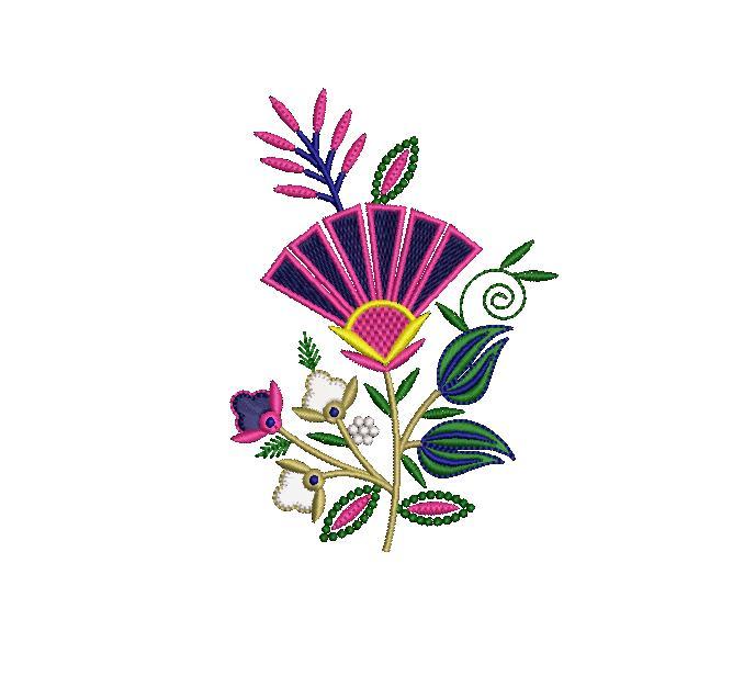Creative Flower Butta embroidery design