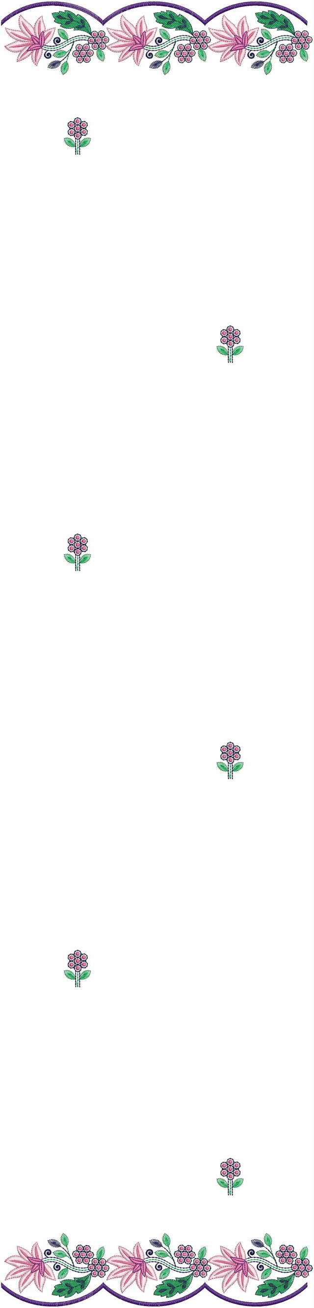 Flowers concept Duptta embroidery  design