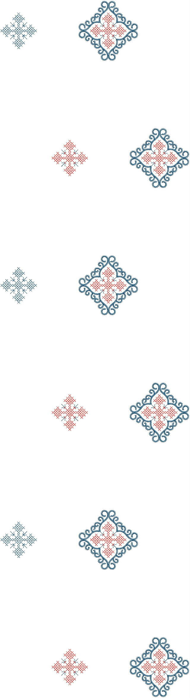 Cross stitch concept duptta embroidery design