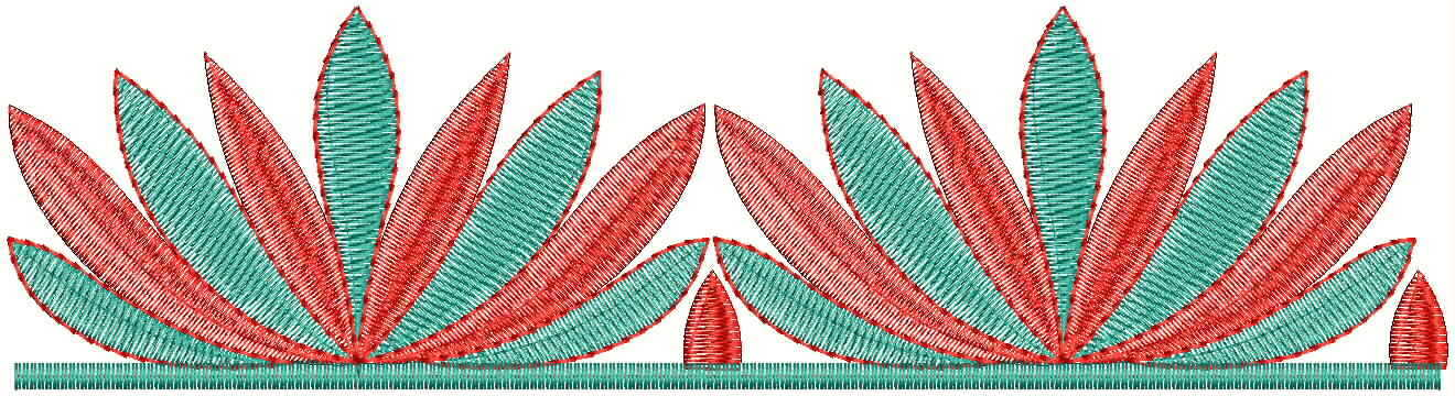 Beautiful flower concept Lace / Border Embroidery Designs
