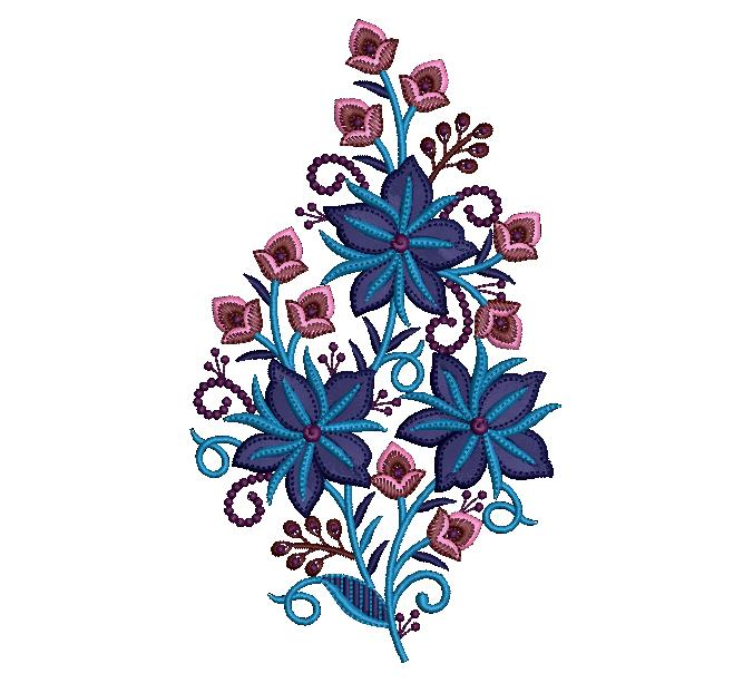 creative awesome  flowers embroidery design