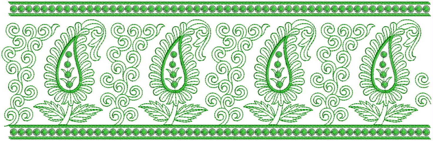Awesome Mango concept  Lace / Border Embroidery Design