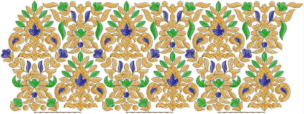 Heavy Lace / Border Embroidery Design