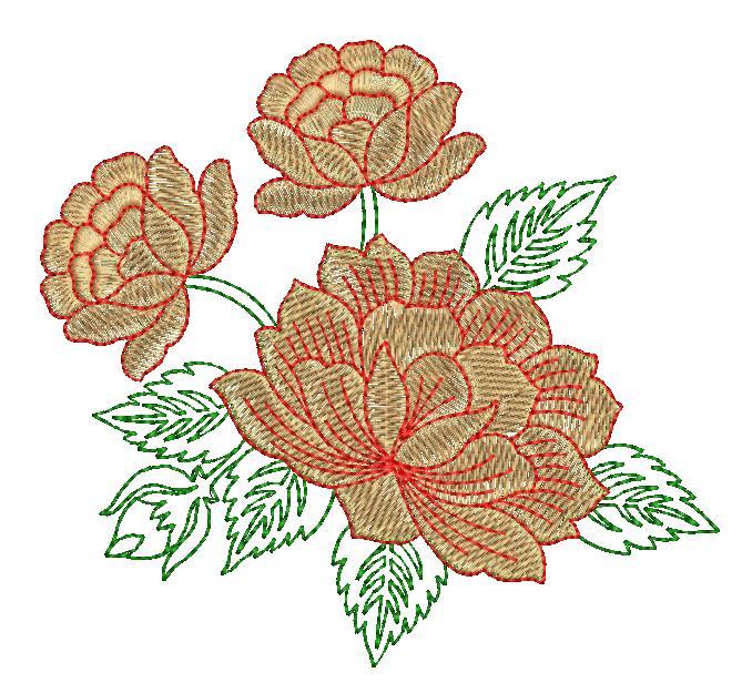 Creative Flower Butta Embroidery Designs