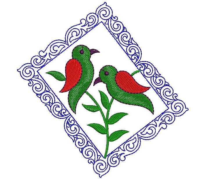 Parrot figure concept Creative Home Décor Embroidery Design