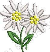 Flowers & Tree Embroidery Design