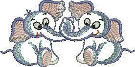 Birds and Animal Embroidery Design
