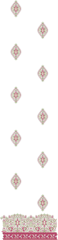 Barik stitch daman concept top/duptta embroidery design