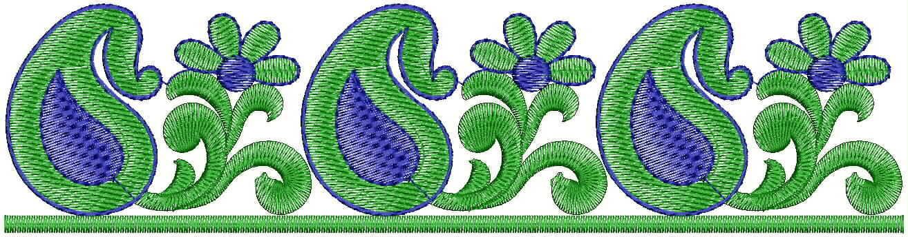 Mango concept  Lace / Border Embroidery Design