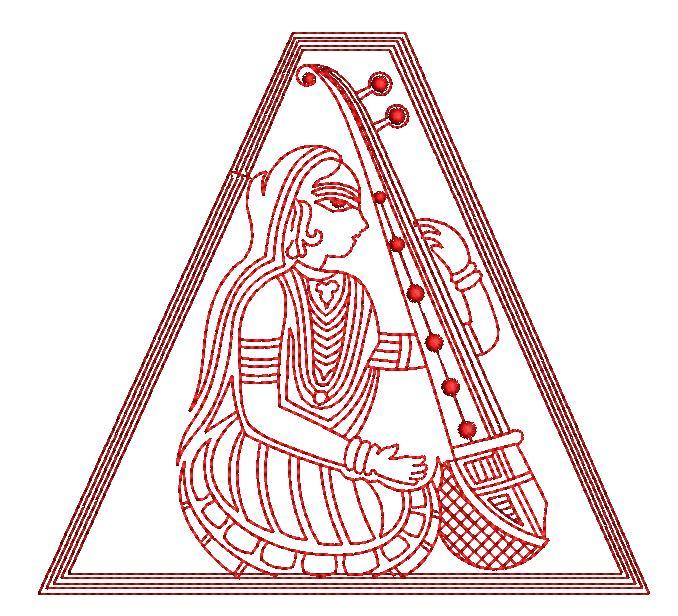 Meerabai figure concept creative art & home decor embroidery designs