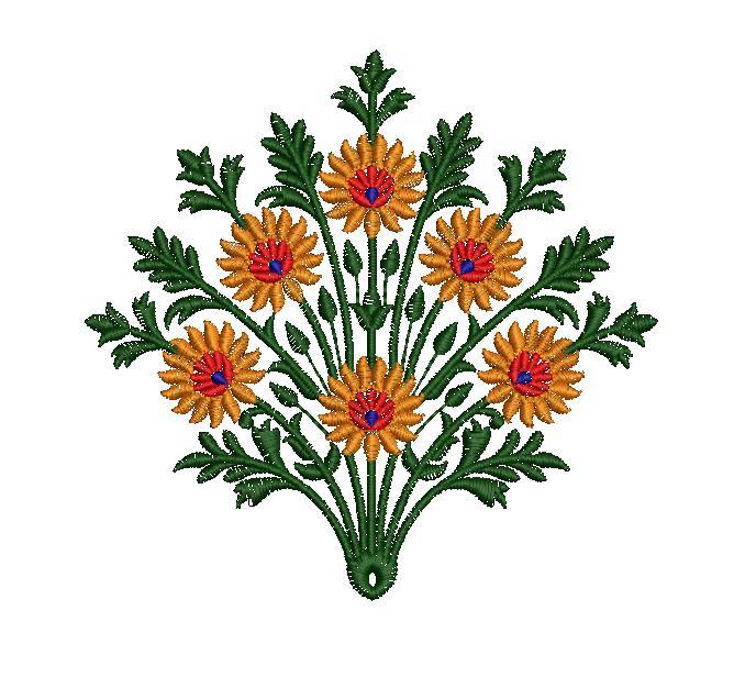Beautiful flower concept creative art & home decor embroidery designs