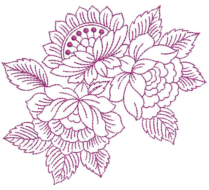 awesome flower concept creative art & home decor emroidery designs