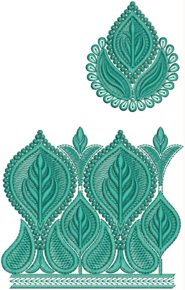 Daman Top/Duptta embroidery design