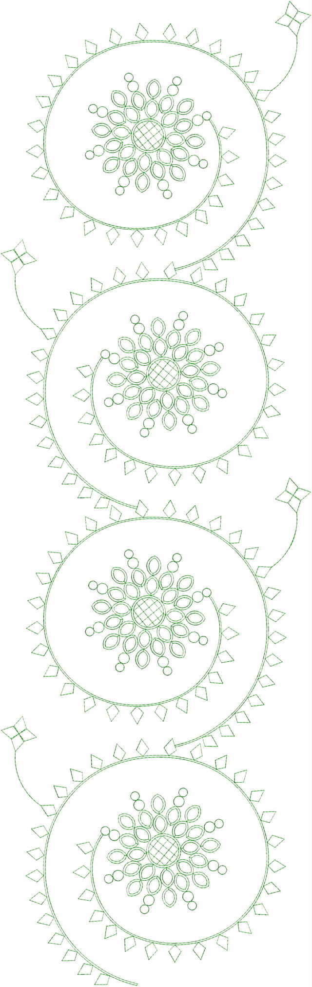 Awesome All over garment Embroidery Design