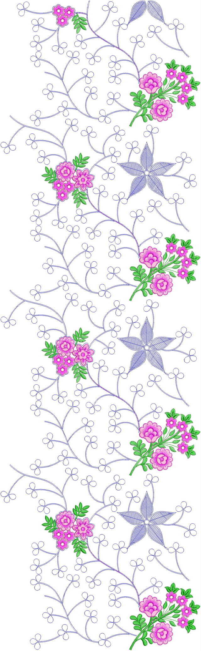 Beautiful flower concept jaal All over garment Embroidery Design