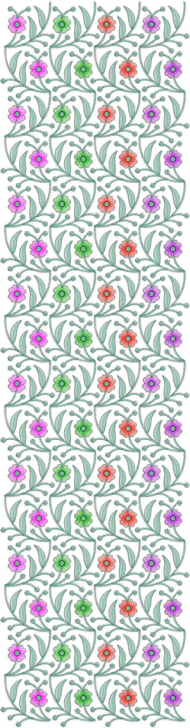 All over gamthi jaal concept garment embroidery designs