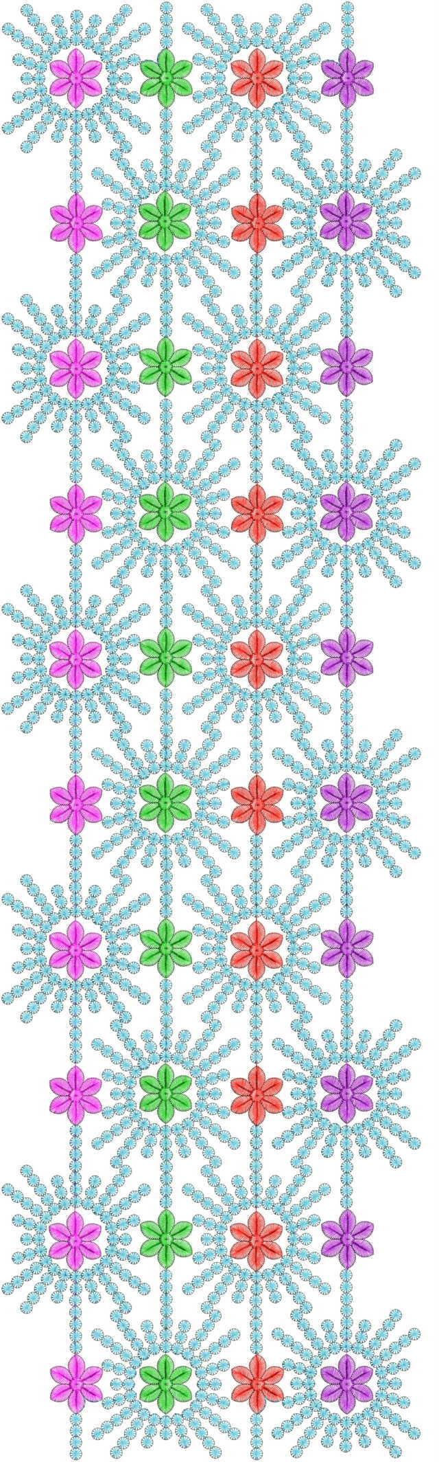 New concept Gamadhi All over garment Embroidery Design