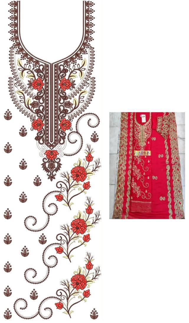 Heavy concept Punjabi Suits Latest Dress Embroidery Design