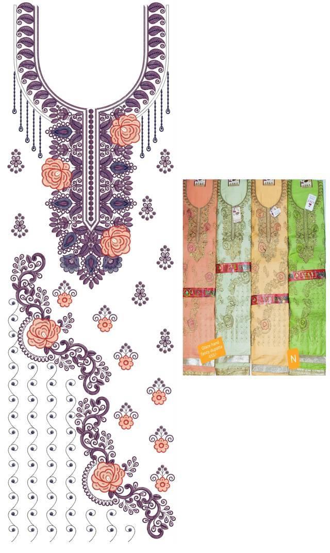 Heavy flowers concept panjabi pakistani suits /duptta embroidery Design
