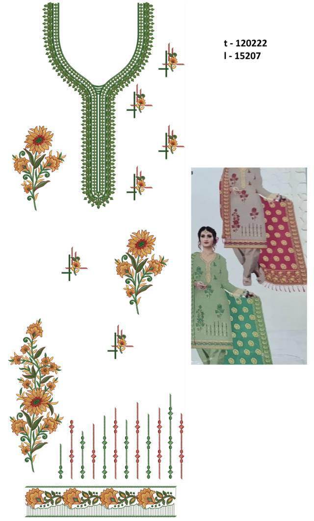 Blushing flowers concept Punjabi Suits Latest Dress Embroidery Design