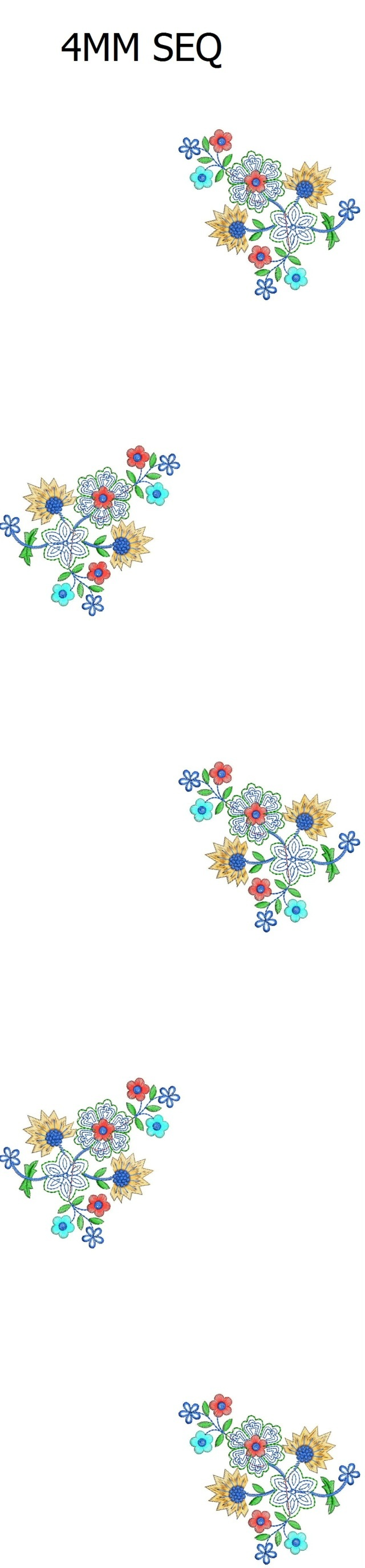 4.8 mm sequins All over butta garment Embroidery Design