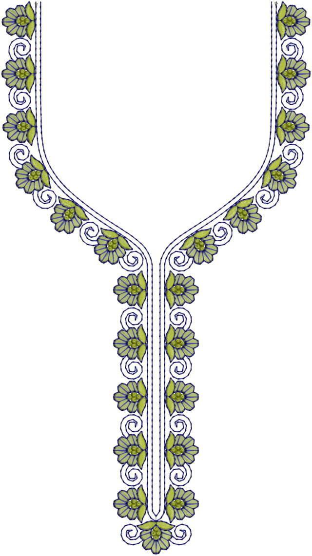 Classic Neck Embroidery Design
