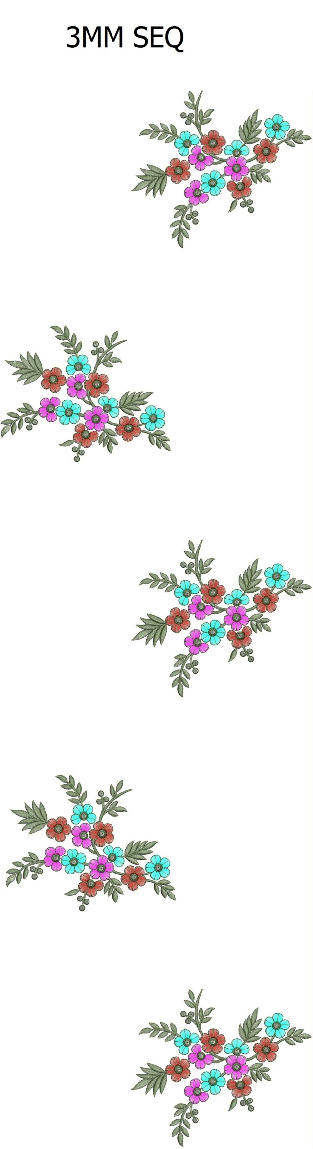 3 mm sequins All over butta garment Embroidery Design