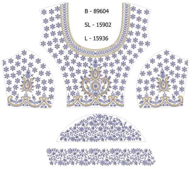 Blouse / Choli Embroidery Design