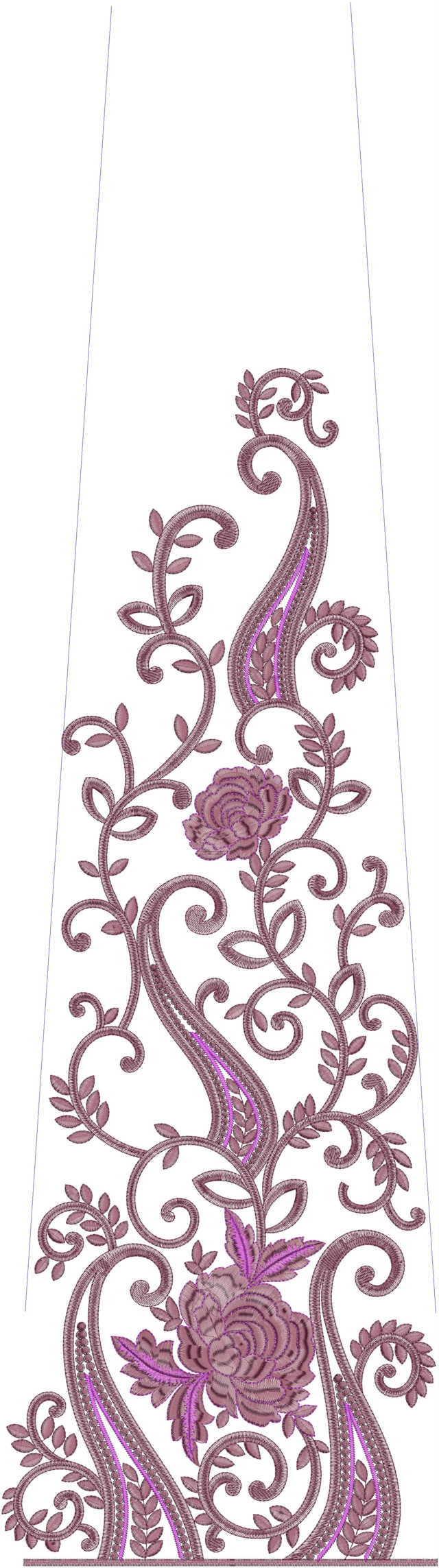 Awesome rose flower concept Rajasthani test Lehenga / kali Embroidery Design