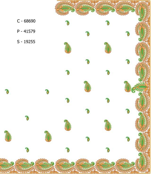 Awesome leaf concept border low renj c pallu skt saree embroidery designs