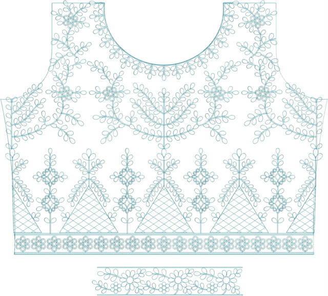 Fancy Blouse /choli embroidery design