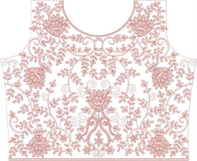 Blouse /choli embroidery design