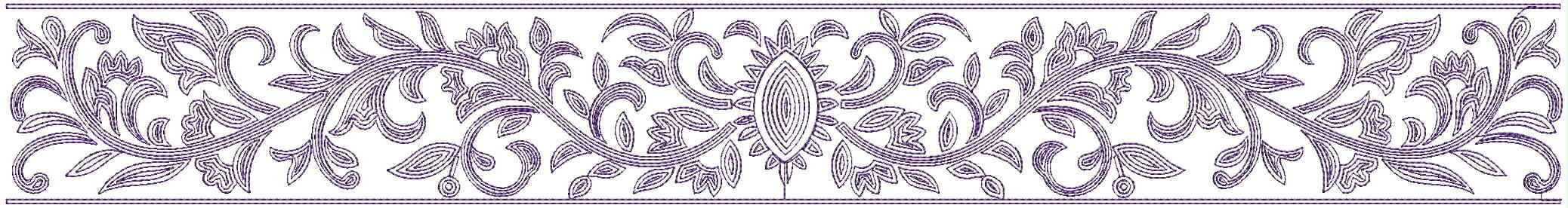 beautiful climber lace/border embroidery designs