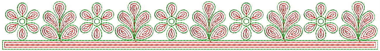 Simple flower Lace / Border Embroidery Design