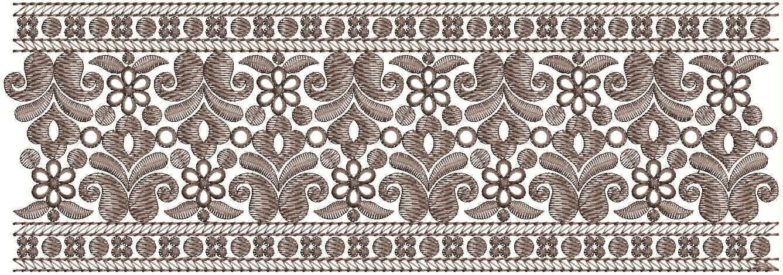 Beautiful Lace / Border Embroidery Design
