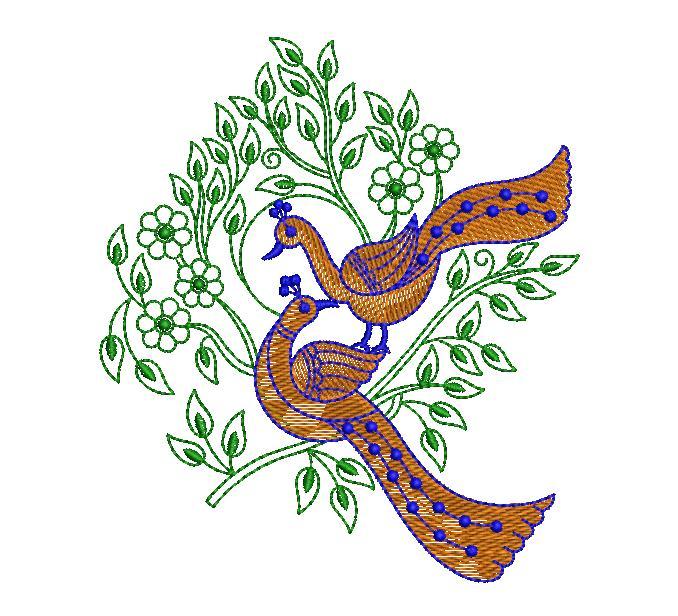 Peacock figure concept Creative Home Décor Embroidery Design