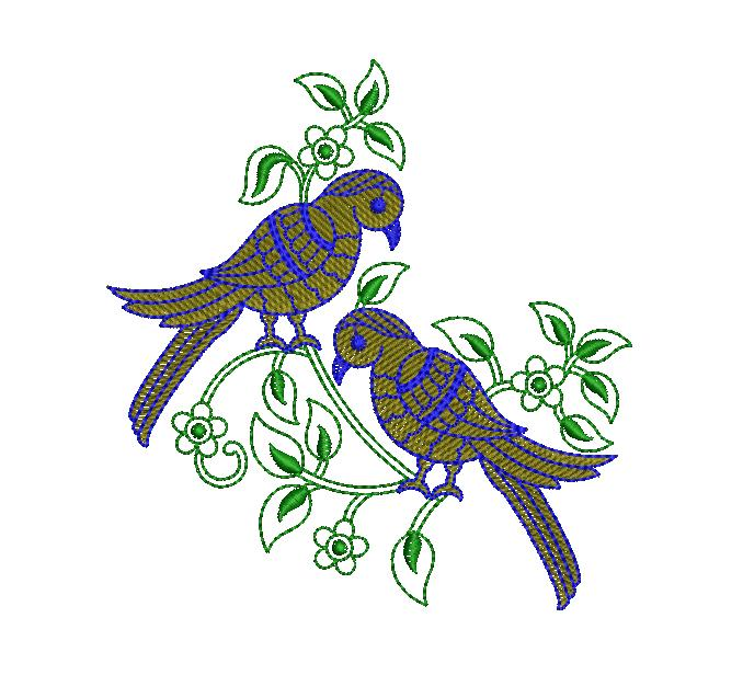 Pigeon Figure concept creative art & home decor Embroidery Design