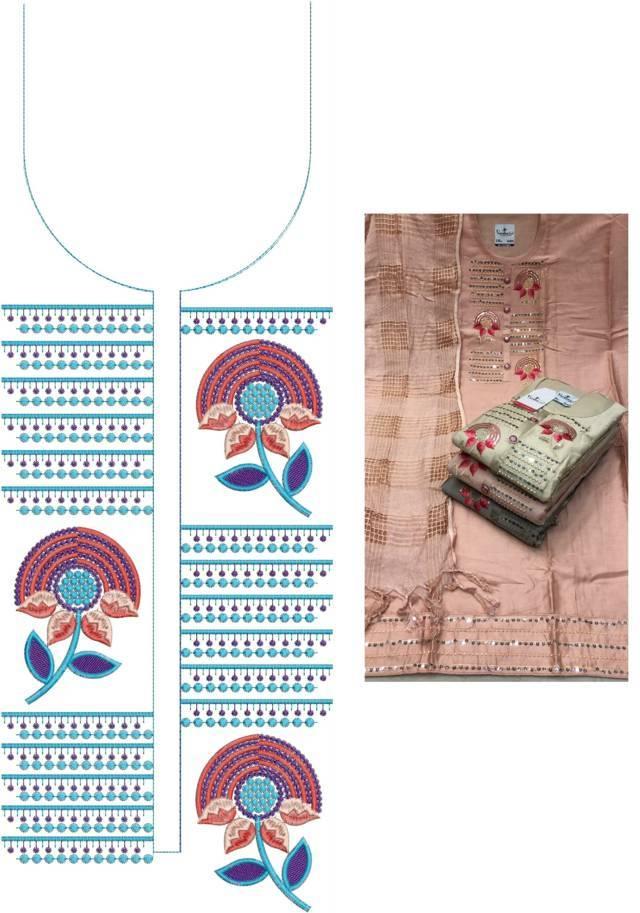 Fancy neck  Kurti Embroidery Design