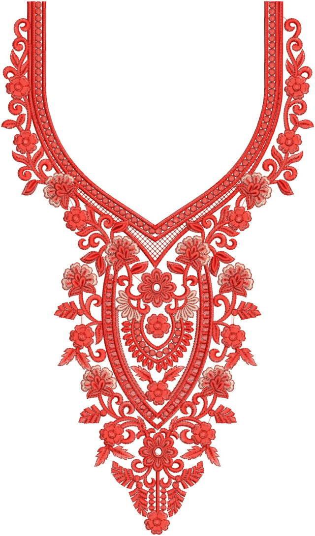 Neck /Gala embroidery design