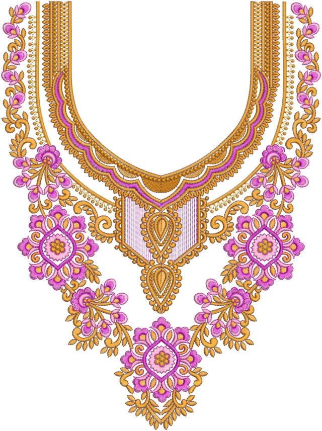 Punjabi Suit Style Dress Embroidery Design
