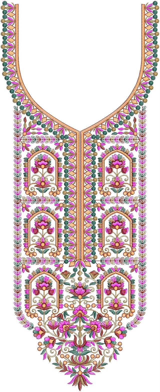 Beautiful Neck Embroidery Design