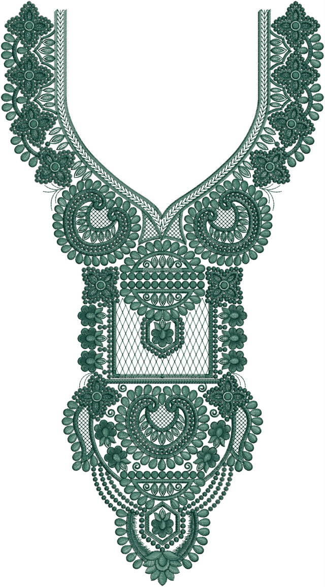 Fancy Neck /Gala embroidery design