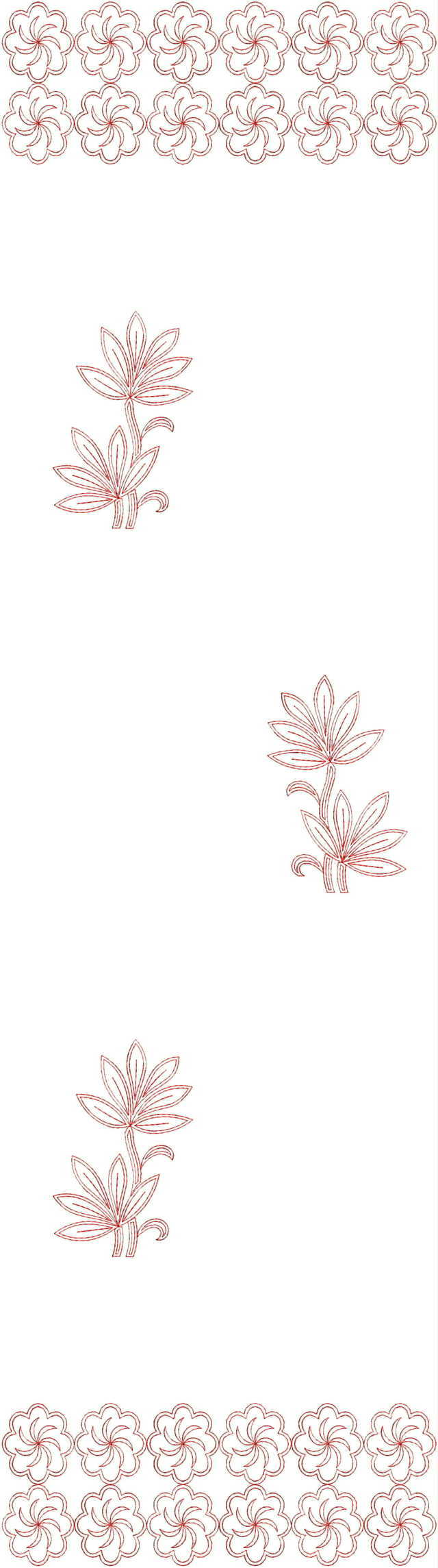 Beautiful all over garment embroidery designs