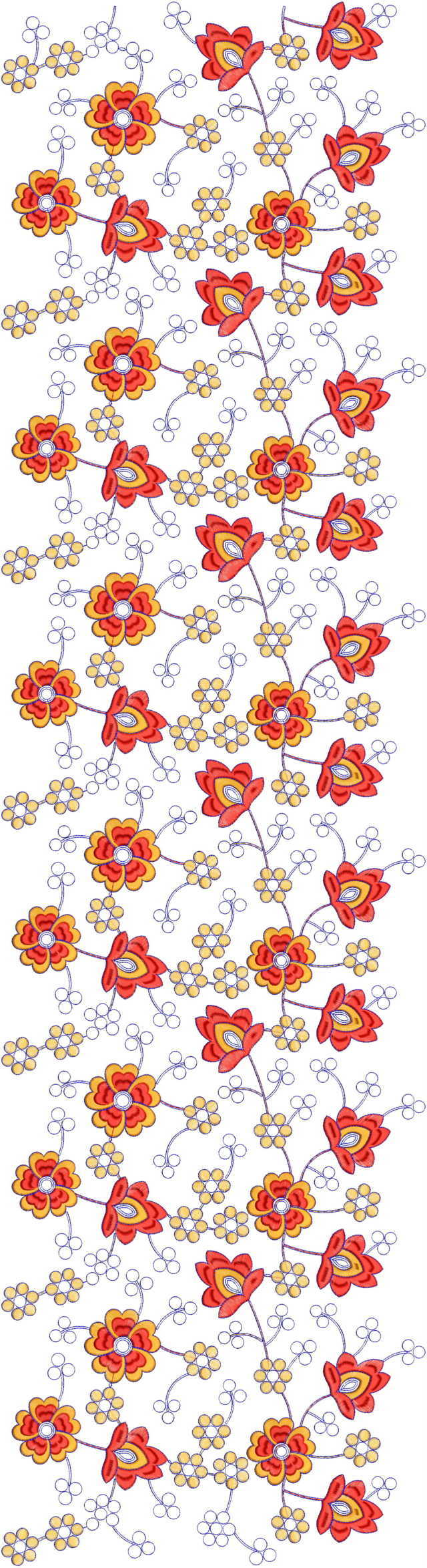Jaal All over garment Embroidery Design