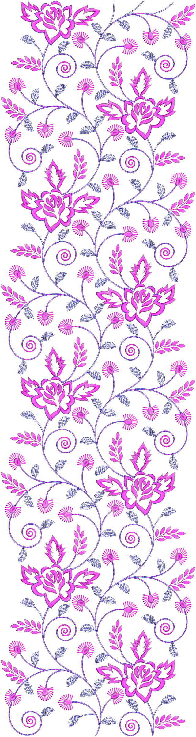 Beautiful Jaal All over garment Embroidery Design
