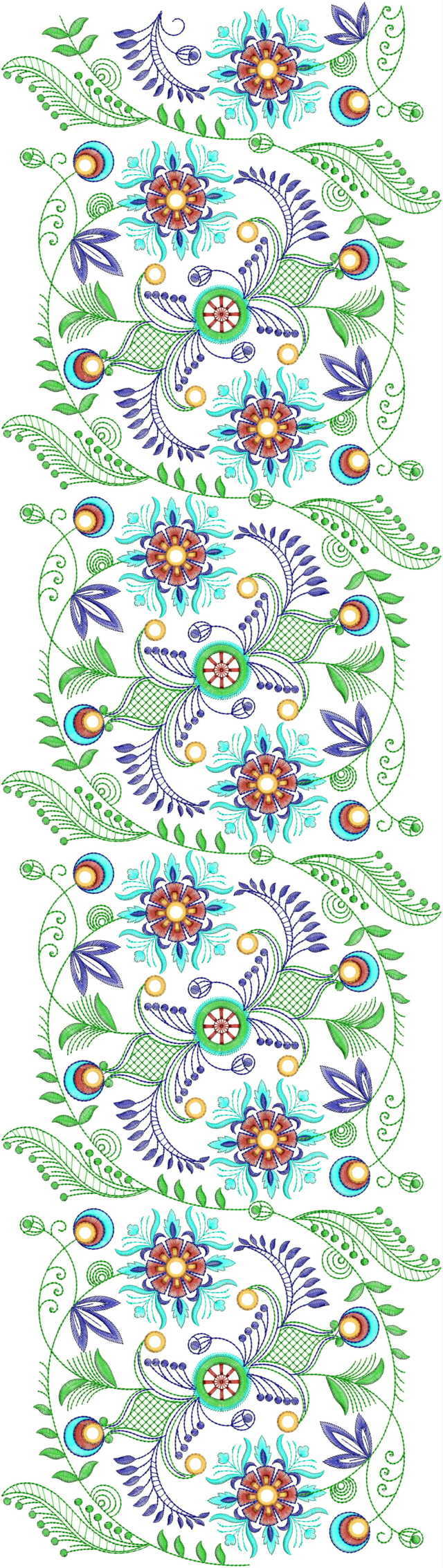 Creative all over garment Embroidery Design